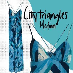 City triangles maxi dress
